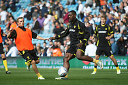 Burton Albion striker Marvin Sordell (17) warms up during the EFL Sky Bet Championship match between Leeds United and Burton Albion at Elland Road, Leeds, England on 9 September 2017. Photo by John Potts.