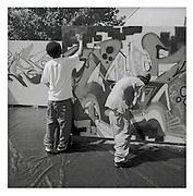 Spray contest, Düdingen, Aktion gegen Gewalt.