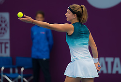 February 10, 2019 - Doha, QATAR - Karolina Muchova of the Czech Republic in action during qualifications at the 2019 Qatar Total Open WTA Premier tennis tournament (Credit Image: © AFP7 via ZUMA Wire)
