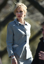 US actress Angelina Jolie shoots scenes of her new movie 'Salt,' on the National Mall in Washington DC, USA.