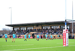 A full grand-stand for Tyrrells Premier 15's action at Shaftesbury Park - Mandatory by-line: Paul Knight/JMP - 19/01/2019 - RUGBY - Shaftesbury Park - Bristol, England - Bristol Bears Women v Worcester Valkyries - Tyrrells Premier 15s