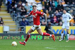 Aden Flint of Bristol City in action against Hull City - Mandatory by-line: Dougie Allward/JMP - 02/04/2016 - FOOTBALL - KC Stadium - Hull, England - Hull City v Bristol City - Sky Bet Championship