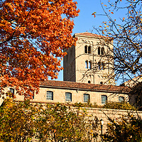 Cloisters Museum in the fall in Fort Tryon Park, Manhattan
