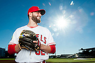 Pitcher Cam Bedrosian poses during the Angels' Photo Day at Spring Training in Tempe, AZ on Tuesday, February 21, 2017. (Photo by Kevin Sullivan, Orange County Register/SCNG)
