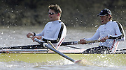 PUTNEY, LONDON, ENGLAND, 18.03.2006, Pre 2006 Boat Race Fixture, Cambridge UBC vs Leander BC.  over part of the Championship Course  from Putney to Mortlake.   © Peter Spurrier/Intersport-images.com.Right, Steve Rowbotham, Peter Reed ..[Mandatory Credit Peter Spurrier/ Intersport Images] Varsity Boat Race, Rowing Course: River Thames, Championship course, Putney to Mortlake 4.25 Miles
