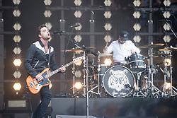 June 24, 2017 - Glastonbury, United Kingdom - Image licensed to i-Images Picture Agency. 23/06/2017. Glastonbury, United Kingdom. Royal Blood playing at the  Glastonbury Festival, United Kingdom.  Picture by i-Images (Credit Image: © i-Images via ZUMA Press)