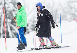 Janica Kostelic during 1st Run of 10th Men's Slalom race of FIS Alpine Ski World Cup 55th Vitranc Cup 2016, on March 6, 2016 in Podkoren, Kranjska Gora, Slovenia. Photo by Vid Ponikvar / Sportida