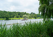 Henley on Thames, England, United KingdomFriday, 02/07/2021, Crew just pasted the finish line in their time trial,   Henley Women's Regatta, Henley Reach,  [Peter Spurrier/Intersport Images],