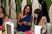 SHERETT DAHLSTROM; ANNABEL NEILSON, The Tomodachi ( Friends) Charity Dinner hosted by Chef Nobu Matsuhisa in aid of the Unicef  Japanese Tsunami Appeal. Nobu Berkeley St. London. 5 May 2011. <br /> <br />  , -DO NOT ARCHIVE-© Copyright Photograph by Dafydd Jones. 248 Clapham Rd. London SW9 0PZ. Tel 0207 820 0771. www.dafjones.com.
