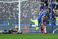 Chelsea's Diego Costa celebrates scoring his sides opening goal during the Premier League match at Stamford Bridge Stadium, London. Picture date December 11th, 2016 Pic David Klein/Sportimage