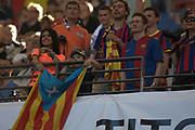 Fussball: International Friendly, 125 years, Hamburger SV - FC Barcelona 1:2, Hamburg, 24.07.2012<br /> Barcelona-Fans<br /> © Torsten Helmke