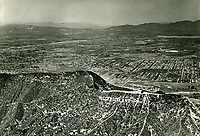 1930 Aerial of the Hollywoodland sign, San Fernando Valley, and Burbank