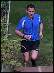 May 2, 2019 - Addis, Addis, Ethiopia - Image ©Licensed to i-Images Picture Agency. 02/05/2019. Addis, Ethiopia. Jeremy Hunt Africa Tour Day Five. The Foreign Secretary Jeremy Hunt goes for an early morning run in the grounds of British Ambassador residents in Addis, Ethiopia, on day five of his six day tour of Africa. (Credit Image: © Andrew Parsons/i-Images via ZUMA Press)