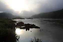 Landscape of the River Mekong in the early morning. Pak Beng,  Oudomxay Province, Lao PDR