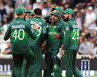 Cricket - 2019 ICC Cricket World Cup - Group Stage: England vs. Pakistan<br /> <br /> Wicket keeper, Sarfaraz Ahmed celebrates his wicket of  Ben Stokes , at Trent Bridge, Nottingham.<br /> <br /> COLORSPORT/ANDREW COWIE