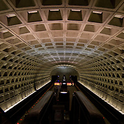 The Foggy Bottom GWU underground Metro train station in Washington, DC