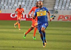Cape Town City defender Ebrahim Seedat in action against Polokwane City in an MTN8 quarter-final match at the Cape Town Stadium on August 12, 2017 in Cape Town, South Africa.