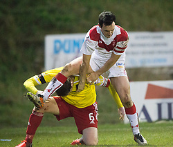 Albion Rover's Michael Dunlop and Airdrie's Marc Fitzpatrick. Albion Rover 1 v 2 Airdrie, Scottish League 1 game played 5/11/2016 at Cliftonhill.