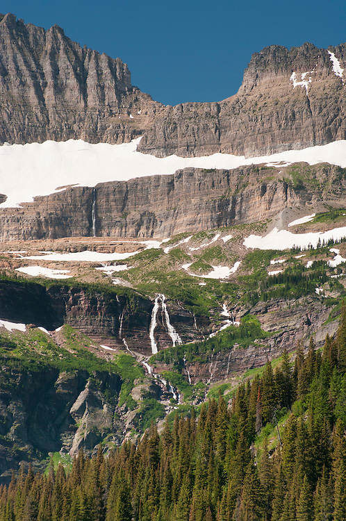 View from the area of Many Glacier, Glacier National Park, Montana, USA; August 2011