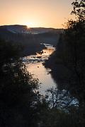 South Fork American River at sunrise, El Dorado County, California