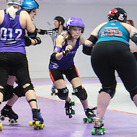 Rainy City Roller Derby Tender Hooligans take on Wirral Roller Derby's Savage Lillies at The Thunderdome, King Street, Oldham, 2016-11-05
