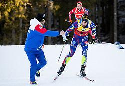 Martin Fourcade (FRA) competes during Men 12,5 km Pursuit at day 3 of IBU Biathlon World Cup 2015/16 Pokljuka, on December 19, 2015 in Rudno polje, Pokljuka, Slovenia. Photo by Vid Ponikvar / Sportida