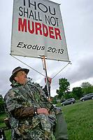 Anti-Abortion Protester at the 2006 University of Iowa Carver School of Medicine Commencement Ceremony, Iowa City, Iowa
