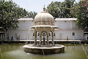 India, Rajasthan, Udaipur Saheliyon Ki Bari gardens, built for the women of Maharana Sangram Singh II in the 18th century.