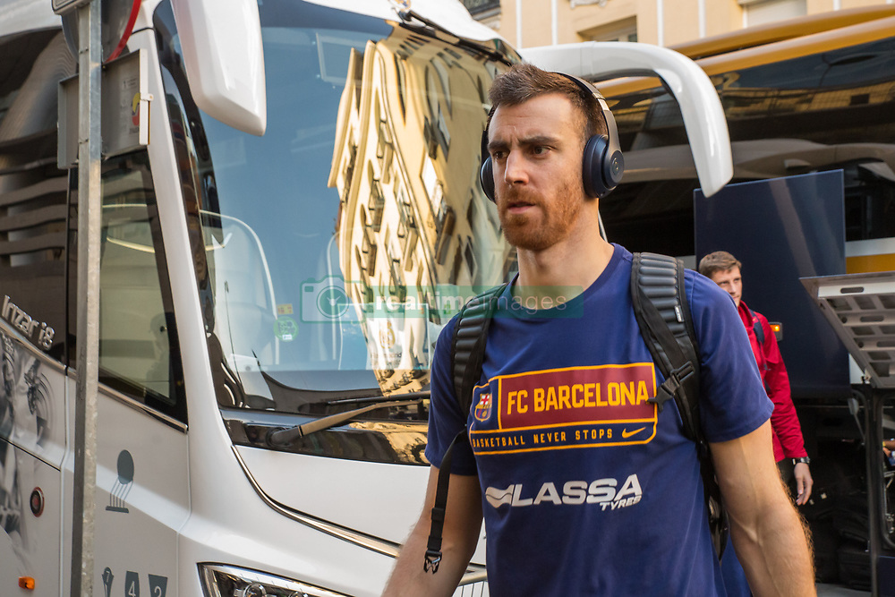 February 17, 2019 - Madrid, Madrid, Spain - Víctor Claver during FC Barcelona Lassa victory over Real Madrid (93 - 94) in Copa del Rey 2019 game (final) celebrated in Madrid (Spain) at Wizink Center. February 17th 2019. (Credit Image: © Juan Carlos Garcia Mate/Pacific Press via ZUMA Wire)
