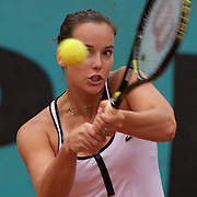 Jarmila Groth of Australia in action against Mariana Duque Marino of Columbia in the second round of the French Open Tennis Tournament in Paris, France on Thursday, May 28, 2009. Photo Tim Clayton.