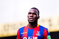 LONDON, ENGLAND - MARCH 31: Christian Benteke (17) of Crystal Palace  during the Premier League match between Crystal Palace and Liverpool at Selhurst Park on March 31, 2018 in London, England.