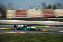 February 27, 2017 - LEWIS HAMILTON (GBR) drives in his Mercedes W08 EQ Power+ on the track during day 1 of Formula One testing at Circuit de Catalunya, Spain (Credit Image: © Matthias Oesterle via ZUMA Wire)