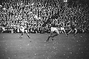 All Ireland Senior Football Championship Final, Kerry v Down, 22.09.1968, 09.22.1968, 22nd September 1968, Down 2-12 Kerry 1-13, Referee M Loftus (Mayo)...Kerry midfielder runs with the ball at speed towards the Down goal, .