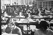 Old photo of office female clerks in Great Western Railway 'Steam' museum, Swindon, Wiltshire, England, UK