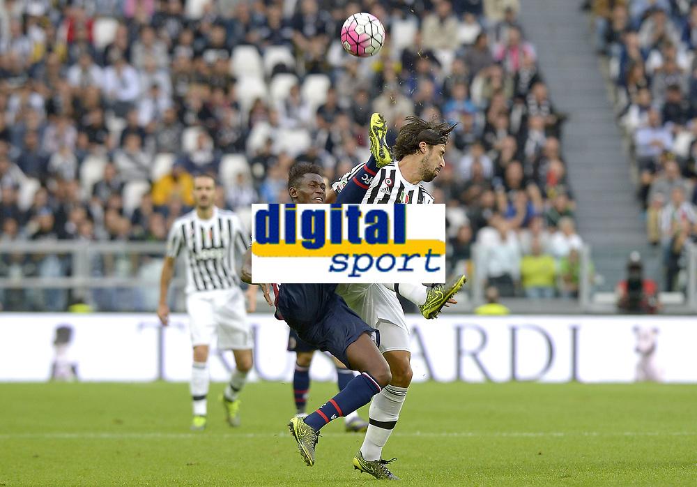 Sami Khedira Juventus, Amadou Diawara Bologna,<br /> Torino 04-10-2015, Juventus Stadium, Football Calcio 2015/2016 Serie A, Juventus - Bologna, Foto Filippo Alfero/Insidefoto