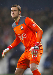 """Southampton goalkeeper Alex McCarthy during the Premier League match at The Hawthorns, West Bromwich. PRESS ASSOCIATION Photo. Picture date: Saturday February 3, 2018. See PA story SOCCER West Brom. Photo credit should read: Nick Potts/PA Wire. RESTRICTIONS: EDITORIAL USE ONLY No use with unauthorised audio, video, data, fixture lists, club/league logos or """"live"""" services. Online in-match use limited to 75 images, no video emulation. No use in betting, games or single club/league/player publications."""