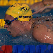 Emily Seebohm, Australia, in action in the Women's 200m IM Semi Finals at the World Swimming Championships in Rome on Sunday, July 7, 2009. Photo Tim Clayton.