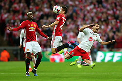 Ander Herrera of Manchester United collides with Dusan Tadic of Southampton  - Mandatory by-line: Matt McNulty/JMP - 26/02/2017 - FOOTBALL - Wembley Stadium - London, England - Manchester United v Southampton - EFL Cup Final