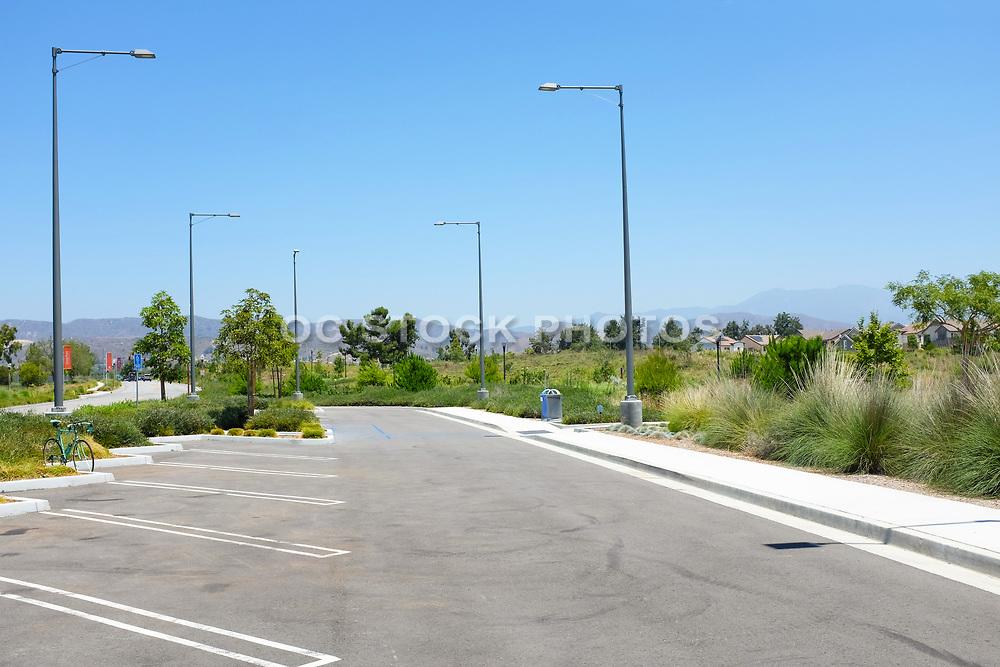 Parking Lot Adjacent ot the Bosque Open Space Area of the Great Park