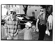Michael J. Fox, son Sam and wife Tracy Pollan. Kids for Kids benefit. Industria Superstudio. NY. 1 October 1995. © Copyright Photograph by Dafydd Jones 66 Stockwell Park Rd. London SW9 0DA Tel 020 7733 0108 www.dafjones.com