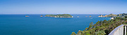 High-angle view looking eastward from Hahei; the Coromandel Peninsula, New Zealand