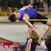 NLD/Apeldoorn/20180217 - NK Indoor Athletiek 2018, hoogspringen, Dion van Kessel