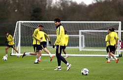 Tottenham Hotspur's Son Heung-Min during the training session at Tottenham Hotspur Football Club Training Ground, London.