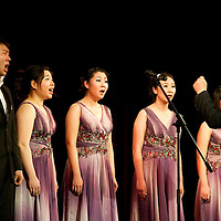 performs during the lunar new year gala program organized by the Confucius Institute of ELTE University in Budapest, Hungary on February 16, 2011. ATTILA VOLGYI