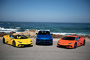 August 15, 2019:  Monterey Car Week, Lamborghini Evo Spyder, Urus and Evo