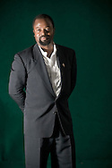 booker Prize-winning author Ben Okri, pictured at the Edinburgh International Book Festival where he talked about his book entitled 'Tales of Freedom'. The three-week event is the world's biggest literary festival and is held during the annual Edinburgh Festival. The 2009 event featured talks and presentations by more than 500 authors from around the world.
