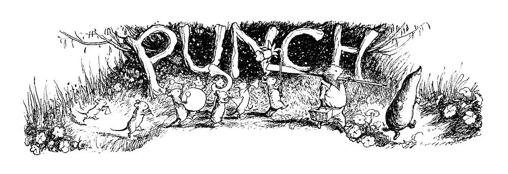 Punch charivaria title heading (Spring Parade)