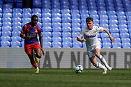 Alfie Mccalmont of Leeds United U23 in action during the U23 Professional Development League match between U23 Crystal Palace and Leeds United at Selhurst Park, London, England on 15 April 2019.