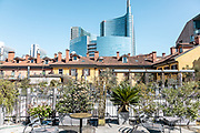 Milan, Corso Como 10 terrace with POrta Nuova Skyline
