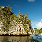 Prominent rock in Triton Bay